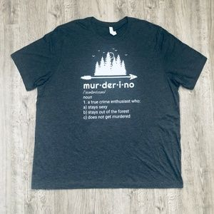 Murderino Definition MFM True Crime Gray T-Shirt